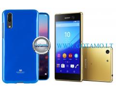 Mercury Jelly dėklas nugarėlė Sony Xperia M5 telefonui mėlynos spalvos