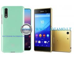 Mercury Jelly dėklas nugarėlė Sony Xperia M5 telefonui mėtinės spalvos