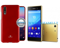 Mercury Jelly dėklas nugarėlė Sony Xperia M5 telefonui raudonos spalvos
