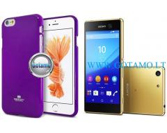 Mercury Jelly dėklas nugarėlė Sony Xperia M5 telefonui violetinės spalvos