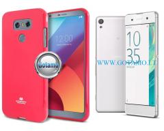 Mercury Jelly dėklas nugarėlė Sony Xperia XA telefonui rožinės spalvos