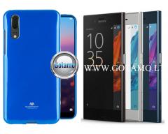 Mercury Jelly dėklas nugarėlė Sony Xperia XZ, Sony Xperia XZs telefonui mėlynos spalvos