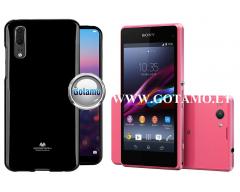 Mercury Jelly dėklas nugarėlė Sony Xperia Z1 Compact Sony Xperia Z1 mini telefonui juodos spalvos