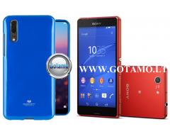 Mercury Jelly dėklas nugarėlė Sony Xperia Z3 Compact telefonui mėlynos spalvos