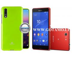 Mercury Jelly dėklas nugarėlė Sony Xperia Z3 Compact telefonui salotinės spalvos