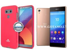 Mercury Jelly dėklas nugarėlė Sony Xperia Z3+ telefonui rožinės spalvos