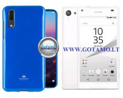Mercury Jelly dėklas nugarėlė Sony Xperia Z5 Compact telefonui mėlynos spalvos