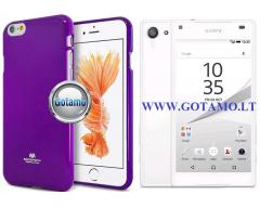 Mercury Jelly dėklas nugarėlė Sony Xperia Z5 Compact telefonui violetinės spalvos