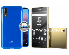 Mercury Jelly dėklas nugarėlė Sony Xperia Z5 Premium telefonui mėlynos spalvos