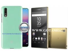 Mercury Jelly dėklas nugarėlė Sony Xperia Z5 Premium telefonui mėtinės spalvos