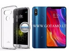 Mercury Jelly dėklas nugarėlė Xiaomi Mi 8 Xiaomi Mi 8 Pro telefonui skaidrus
