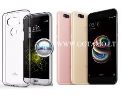 Mercury Jelly dėklas nugarėlė Xiaomi Mi A1 Xiaomi Mi 5X telefonui skaidrus