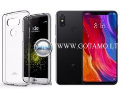 Mercury Jelly dėklas nugarėlė Xiaomi Mi Mix 2S telefonui skaidrus