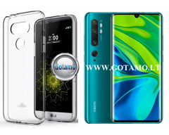 Mercury Jelly dėklas nugarėlė Xiaomi Mi Note 10 Xiaomi Mi Note 10 Pro telefonui skaidrus