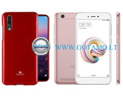 Mercury Jelly dėklas nugarėlė Xiaomi Redmi 5A telefonui raudonos spalvos