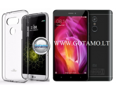 Mercury Jelly dėklas nugarėlė Xiaomi Redmi Note 4 Xiaomi Redmi Note 4X telefonui skaidrus