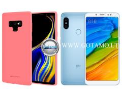Mercury Jelly dėklas nugarėlė Xiaomi Redmi Note 5 Xiaomi Redmi Note 5 Pro telefonui rožinės spalvos