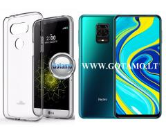 Mercury Jelly dėklas nugarėlė Xiaomi Redmi Note 9 Pro telefonui skaidrus