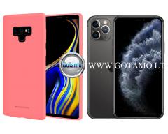 Mercury Soft Feeling dėklas nugarėlė Apple iPhone 11 Pro telefonui rožinės spalvos