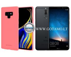 Mercury Soft Feeling dėklas nugarėlė Huawei Mate 10 Lite telefonui rožinės spalvos