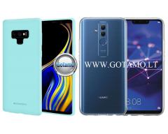 Mercury Soft Feeling dėklas nugarėlė Huawei Mate 20 Lite telefonui mėtinės spalvos
