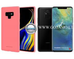 Mercury Soft Feeling dėklas nugarėlė Huawei Mate 20 Pro telefonui rožinės spalvos