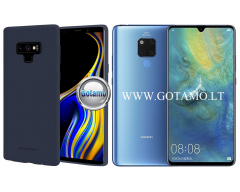 Mercury Soft Feeling dėklas nugarėlė Huawei Mate 20 telefonui mėlynos spalvos