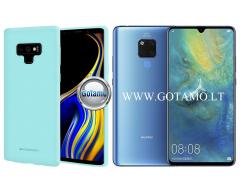 Mercury Soft Feeling dėklas nugarėlė Huawei Mate 20 telefonui mėtinės spalvos