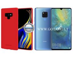 Mercury Soft Feeling dėklas nugarėlė Huawei Mate 20 telefonui raudonos spalvos