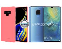 Mercury Soft Feeling dėklas nugarėlė Huawei Mate 20 telefonui rožinės spalvos