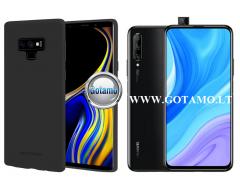 Mercury Soft Feeling dėklas nugarėlė Huawei P Smart Pro (2019) Huawei Y9 Prime telefonui juodos spalvos