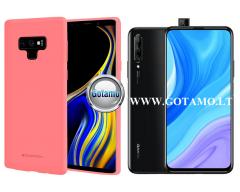 Mercury Soft Feeling dėklas nugarėlė Huawei P Smart Pro (2019) Huawei Y9 Prime telefonui rožinės spalvos
