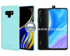 Mercury Soft Feeling dėklas nugarėlė Huawei P Smart Pro (2019) Huawei Y9 Prime telefonui mėtinės spalvos