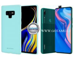 Mercury Soft Feeling dėklas nugarėlė Huawei P Smart Z Huawei Y9 (2019) telefonui mėtinės spalvos