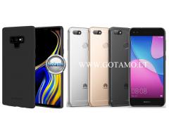 Mercury Soft Feeling dėklas nugarėlė Huawei P9 Lite Mini telefonui juodos spalvos