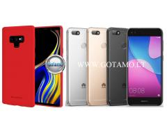 Mercury Soft Feeling dėklas nugarėlė Huawei P9 Lite Mini telefonui raudonos spalvos