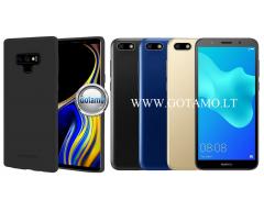 Mercury Soft Feeling dėklas nugarėlė Huawei Y5 (2018) Huawei Honor 7S telefonui juodos spalvos