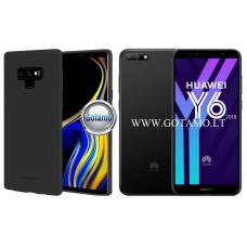 Mercury Soft Feeling dėklas nugarėlė Huawei Y6 (2018) Huawei Honor 7A telefonui juodos spalvos