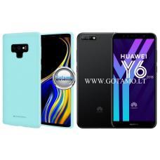 Mercury Soft Feeling dėklas nugarėlė Huawei Y6 (2018) Huawei Honor 7A telefonui mėtinės spalvos
