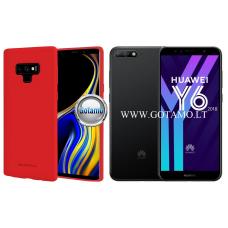 Mercury Soft Feeling dėklas nugarėlė Huawei Y6 (2018) Huawei Honor 7A telefonui raudonos spalvos Šiauliai | Šiauliai | Vilnius