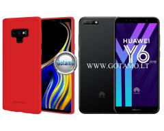 Mercury Soft Feeling dėklas nugarėlė Huawei Y6 (2018) Huawei Honor 7A telefonui raudonos spalvos