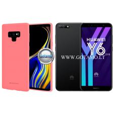Mercury Soft Feeling dėklas nugarėlė Huawei Y6 (2018) Huawei Honor 7A telefonui rožinės spalvos