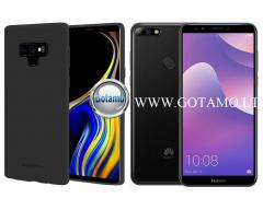 Mercury Soft Feeling dėklas nugarėlė Huawei Y7 (2018) Huawei Honor 7C telefonui juodos spalvos
