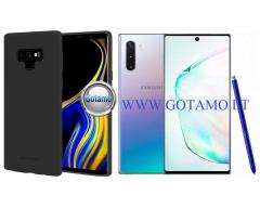 Mercury Soft Feeling dėklas nugarėlė Samsung Galaxy Note 10 telefonui juodos spalvos