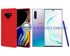 Mercury Soft Feeling dėklas nugarėlė Samsung Galaxy Note 10 telefonui raudonos spalvos