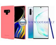 Mercury Soft Feeling dėklas nugarėlė Samsung Galaxy Note 10+ telefonui rožinės spalvos