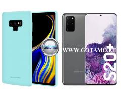 Mercury Soft Feeling dėklas nugarėlė Samsung Galaxy S20+ telefonui mėtinės spalvos