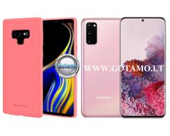 Mercury Soft Feeling dėklas nugarėlė Samsung Galaxy S20 telefonui rožinės spalvos