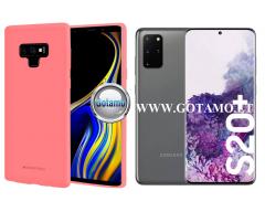 Mercury Soft Feeling dėklas nugarėlė Samsung Galaxy S20+ telefonui rožinės spalvos