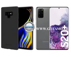 Mercury Soft Feeling dėklas nugarėlė Samsung Galaxy S20 Ultra telefonui juodos spalvos